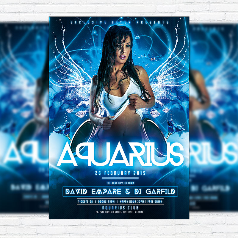 Aquarius Night - Premium PSD Flyer Template