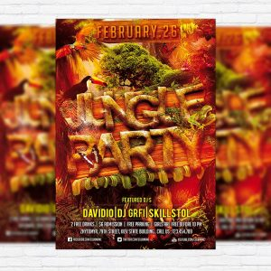 Jungle Party - Premium PSD Flyer Template