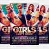 Girls Party Night - Premium Flyer Template + Facebook Cover