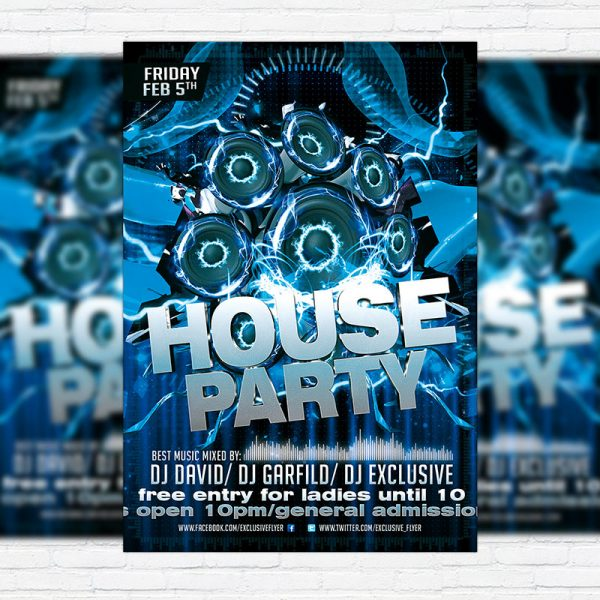 House Party - Premium PSD Flyer Template
