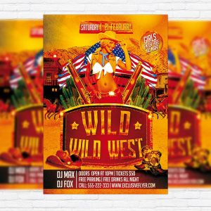 Wild Wild West Party - Premium PSD Flyer Template