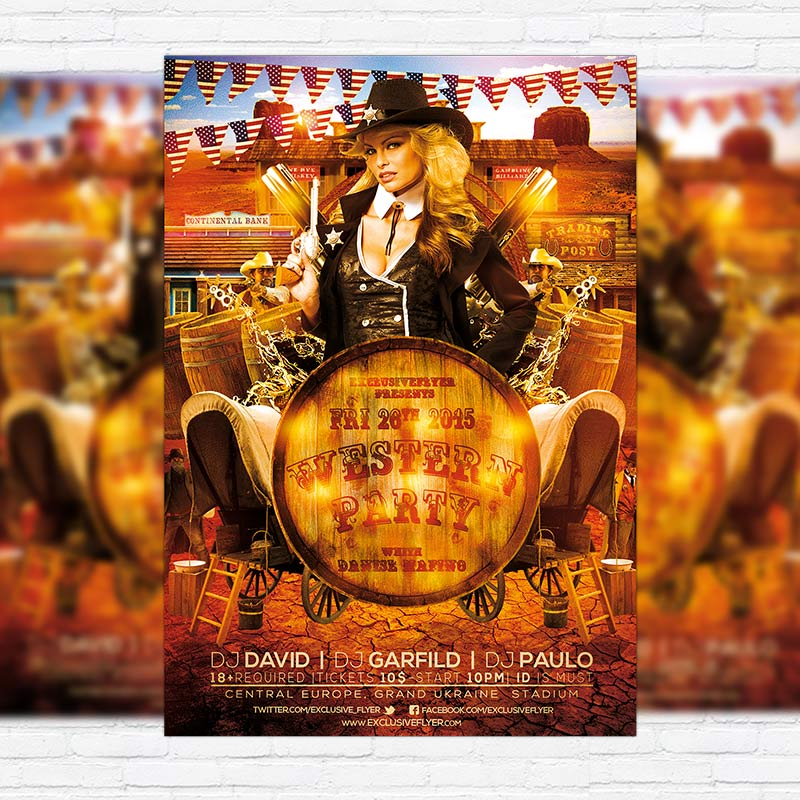 Western Party - Premium PSD Flyer Template