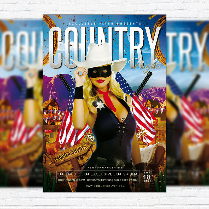 Country Nights - Premium PSD Flyer Template