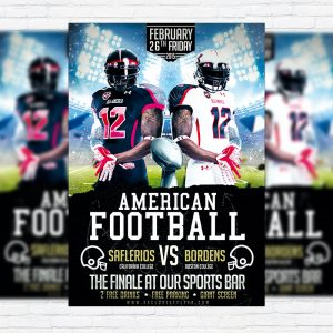 American Football - Premium PSD Flyer Template