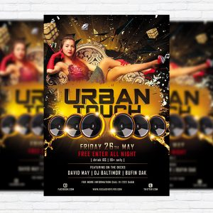 Urban Touch - Free Club and Party Flyer PSD Template