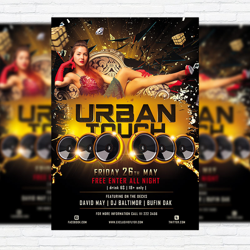 Urban Touch Free Club And Party Flyer Psd Template Exclsiveflyer