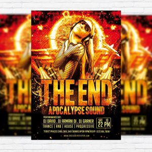 The End - Free Club and Party Flyer PSD Template