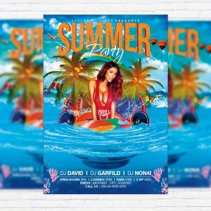 Summer Party Vol.2 - Premium Flyer Template + Facebook Cover