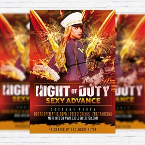 Night of Duty - Premium PSD Flyer Template