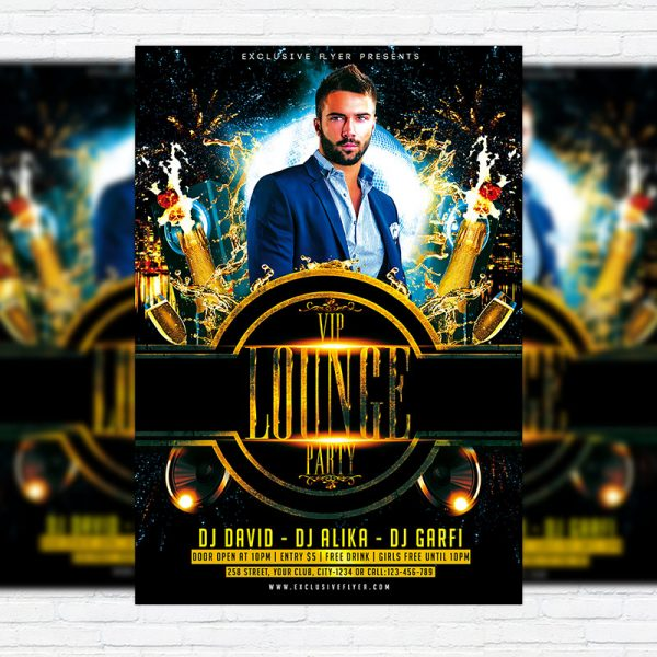 VIP Lounge Party - Premium PSD Flyer Template