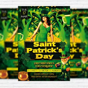 Saint Patrick's Day Party - Premium PSD Flyer Template