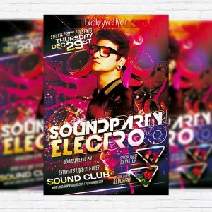 Electro Sound Party - Premium PSD Flyer Template