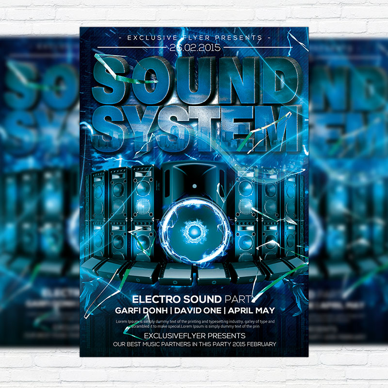 Sound System Party – Premium PSD Flyer Template | ExclsiveFlyer ...