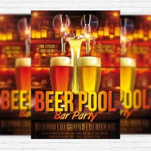 Beer Pool - Premium Flyer Template + Facebook Cover