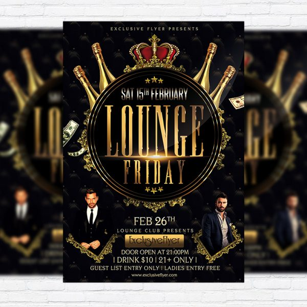 Lounge Friday Party - Premium PSD Flyer Template