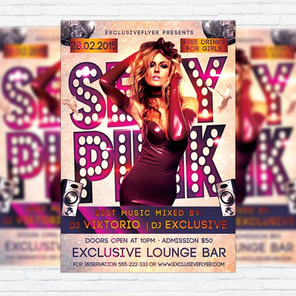 Sexy Pink Party - Premium PSD Flyer Template
