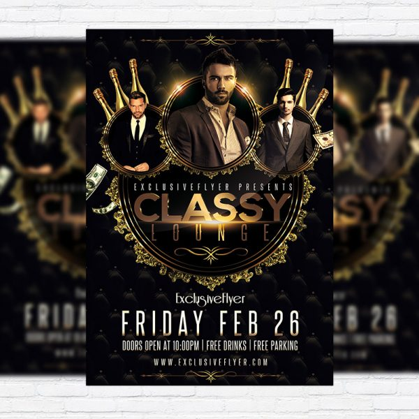 Classy Lounge Party - Premium PSD Flyer Template
