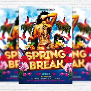 Spring Break Bash - Premium PSD Flyer Template
