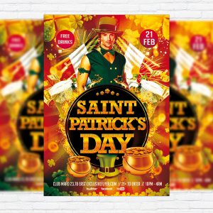 Saint Patrick`s Day - Premium PSD Flyer Template