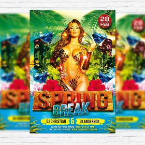 Spring Break - Premium PSD Flyer Template