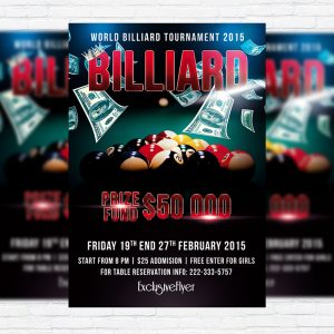 Billiard Tournament - Premium PSD Flyer Template