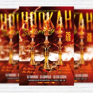 Hookah Saturday - Premium PSD Flyer Template