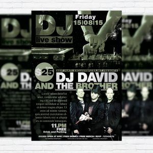 DJ Live Show Vol2 - Premium Flyer Template + Facebook Cover