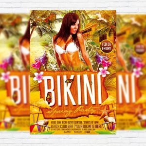 Bikini Spring Party - Premium PSD Flyer Template