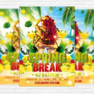 Sexy Spring Break - Premium PSD Flyer Template