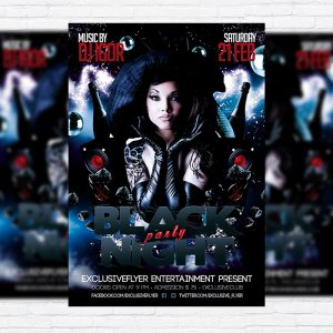 Black Night Party - Premium PSD Flyer Template