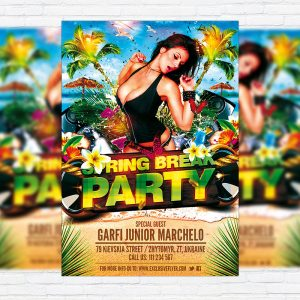 Spring Break Party - Premium PSD Flyer Template