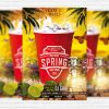 Spring Party Night - Premium PSD Flyer Template