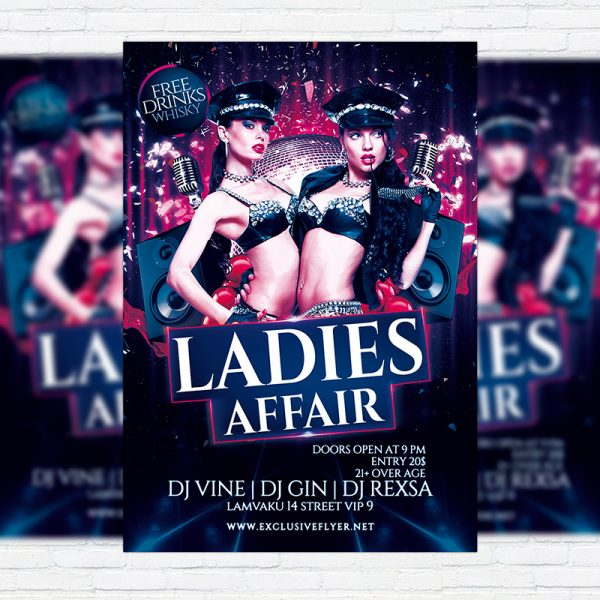 Ladies Affair - Premium Flyer Template + Facebook Cover