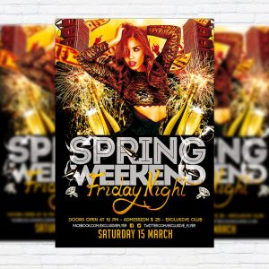 Spring Weekend - Premium PSD Flyer Template