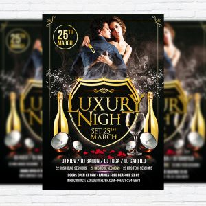 Luxury Night - Premium PSD Flyer Template