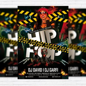 Hip Hop Party - Premium PSD Flyer Template