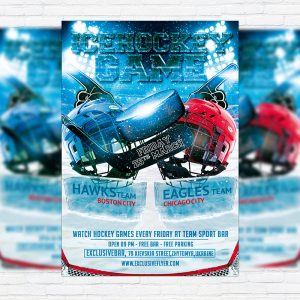 Ice Hockey Game - Premium PSD Flyer Template