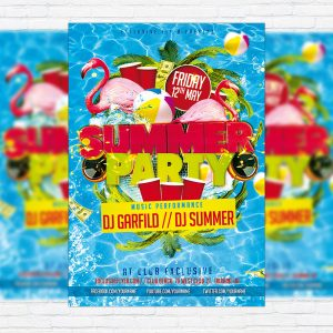Summer Party - Premium PSD Flyer Template