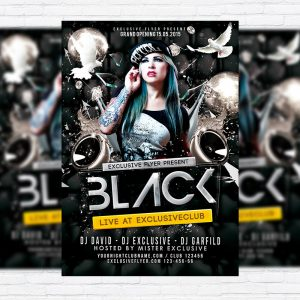 Black Party - Premium PSD Flyer Template