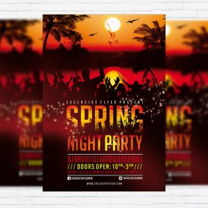 Spring Night Party - Premium PSD Flyer Template