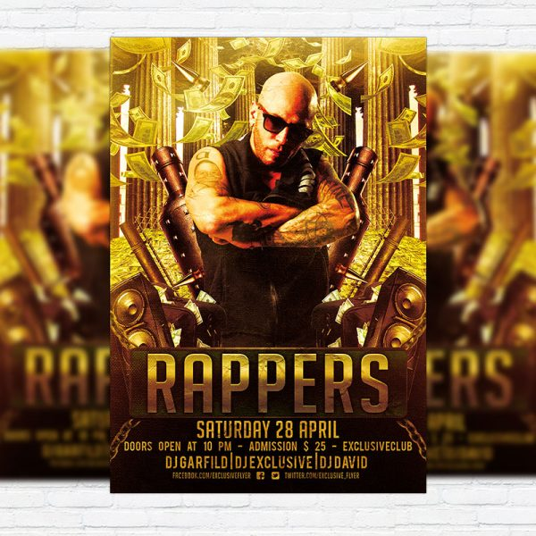Rappers Party - Premium PSD Flyer Template