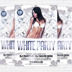 White Party Vol.2 - Premium Flyer Template + Facebook Cover
