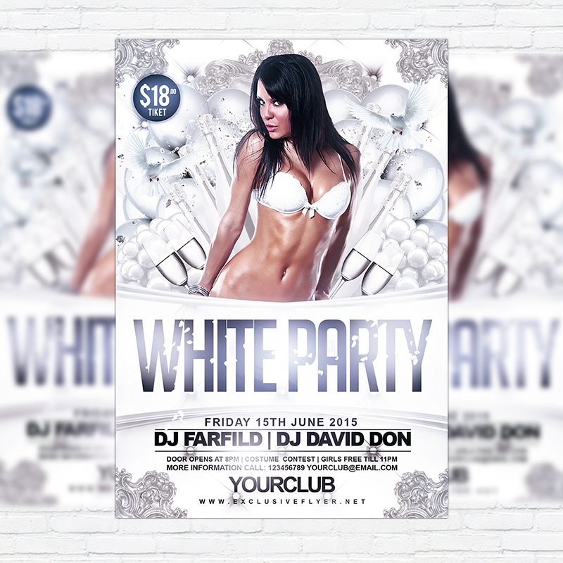 White Party Vol2 Premium Flyer Template Facebook Cover