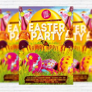 Easter Party - Premium PSD Flyer Template