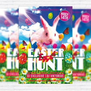 Easter Eggs Hunt - Premium Flyer Template + Facebook Cover
