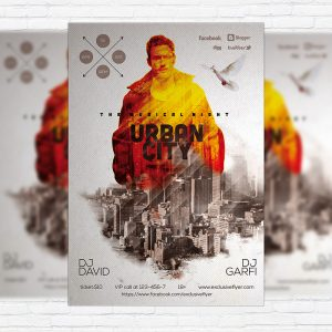 Urban City - Premium Flyer Template + Facebook Cover
