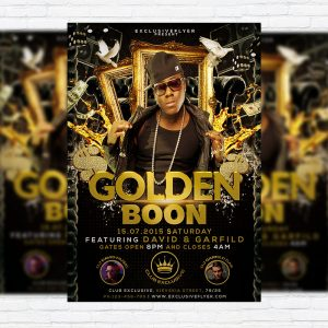 Golden Boon - Premium Flyer Template + Facebook Cover