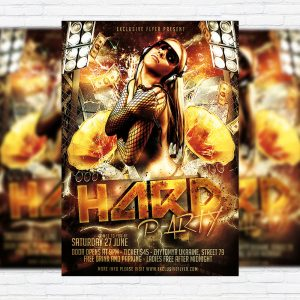 Hard Party - Premium Flyer Template + Facebook Cover
