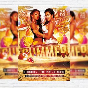 Summer - Premium Flyer Template + Facebook Cover