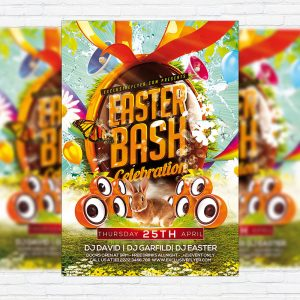 Easter Bash - Premium Flyer Template + Facebook Cover